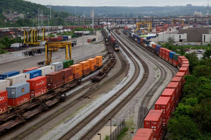Railyard behind the Cincinnati Union Terminal