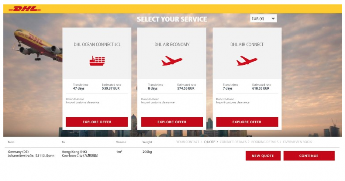DHL Global Forwarding launches new online booking platform