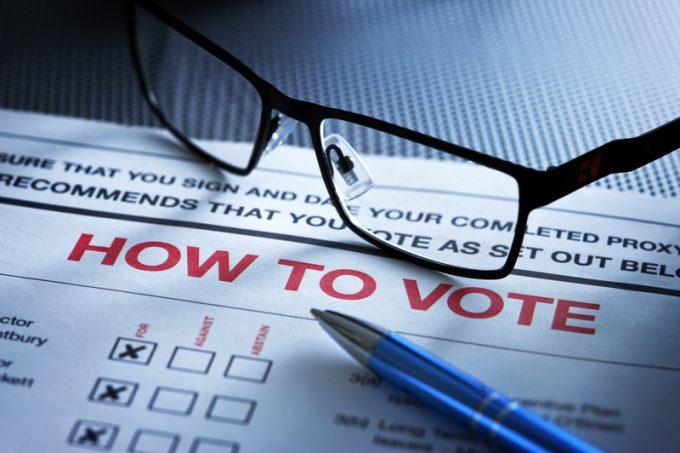 shareholder vote © Dave Bredeson