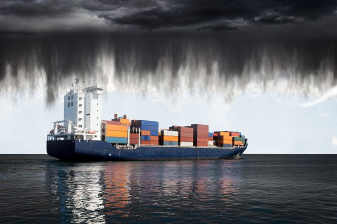 storm cloud container ship © Nightman1965